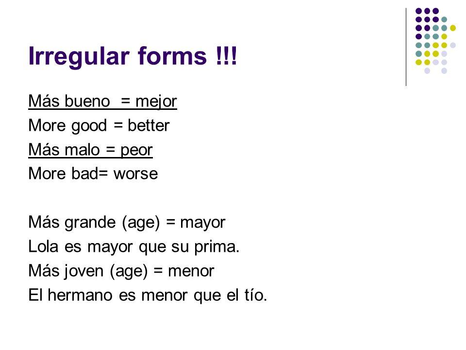 Equal Comparison of Nouns Subject + verb+ tanto(a)(s)+ noun+ como + person MJ tiene tantos coches como Shaq.