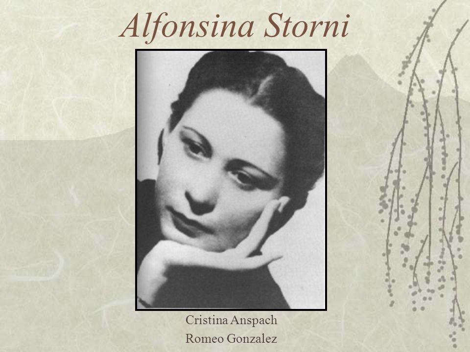 Alfonsina Storni Cristina Anspach Romeo Gonzalez