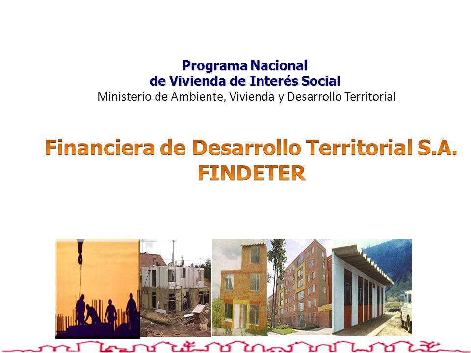 Programa Nacional de Vivienda de Interés Social Programa Nacional de Vivienda de Interés Social Ministerio de Ambiente, Vivienda y Desarrollo Territor