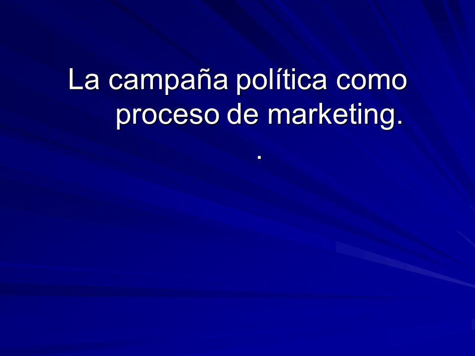 La campaña política como proceso de marketing..