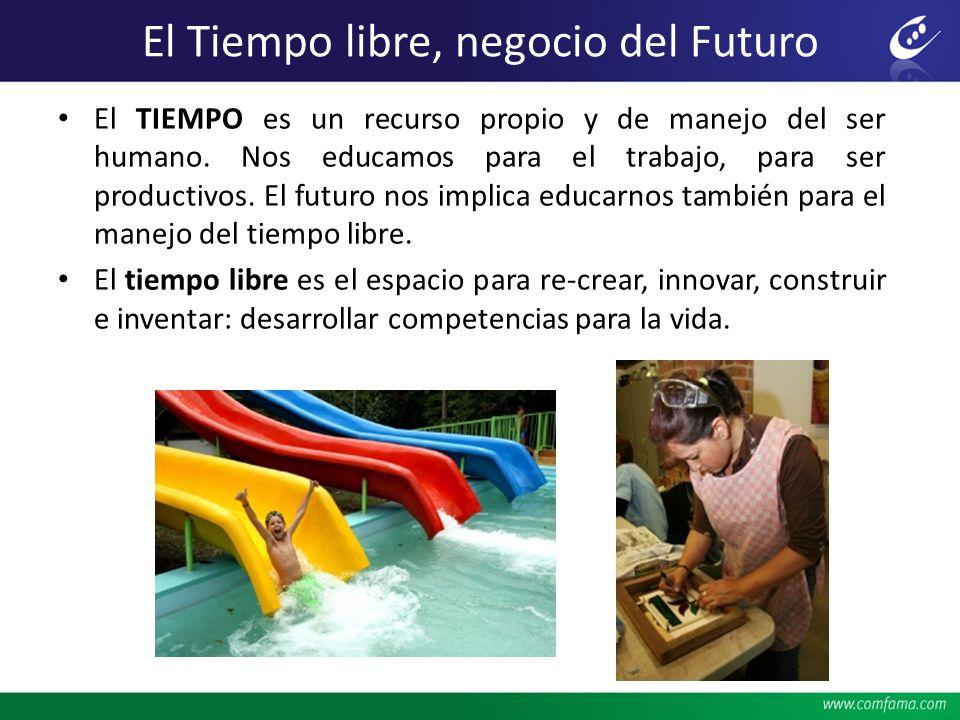 El Tiempo libre, negocio del Futuro El TIEMPO es un recurso propio y de manejo del ser humano. Nos educamos para el trabajo, para ser productivos. El