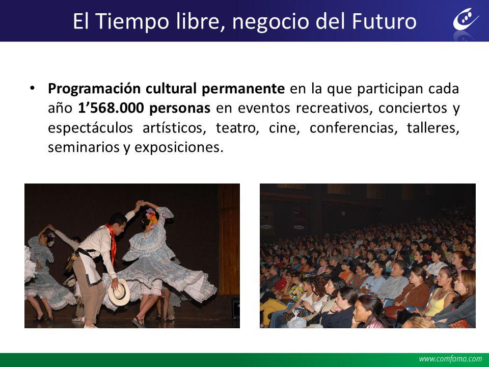 El Tiempo libre, negocio del Futuro Programación cultural permanente en la que participan cada año 1568.000 personas en eventos recreativos, concierto