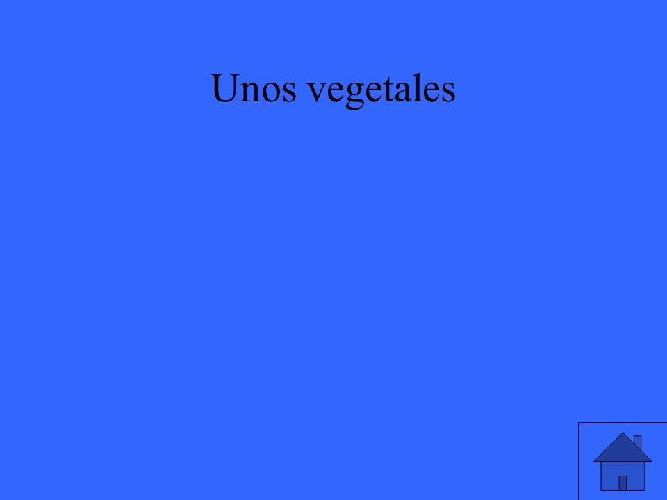 Unos vegetales