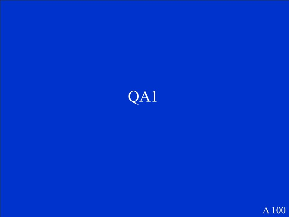 QA1 A 100