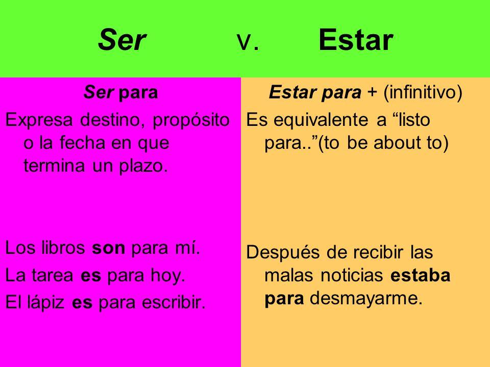 Sustantivo o pronombre + ser + sustantivo Iguala el sujeto al sustantivo.