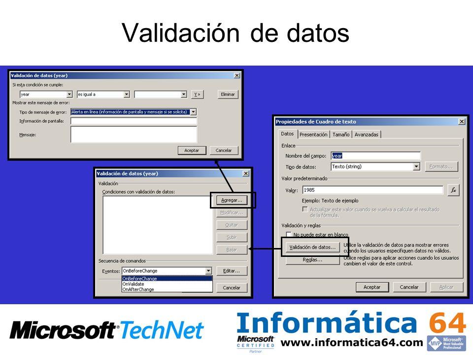 Validación de datos