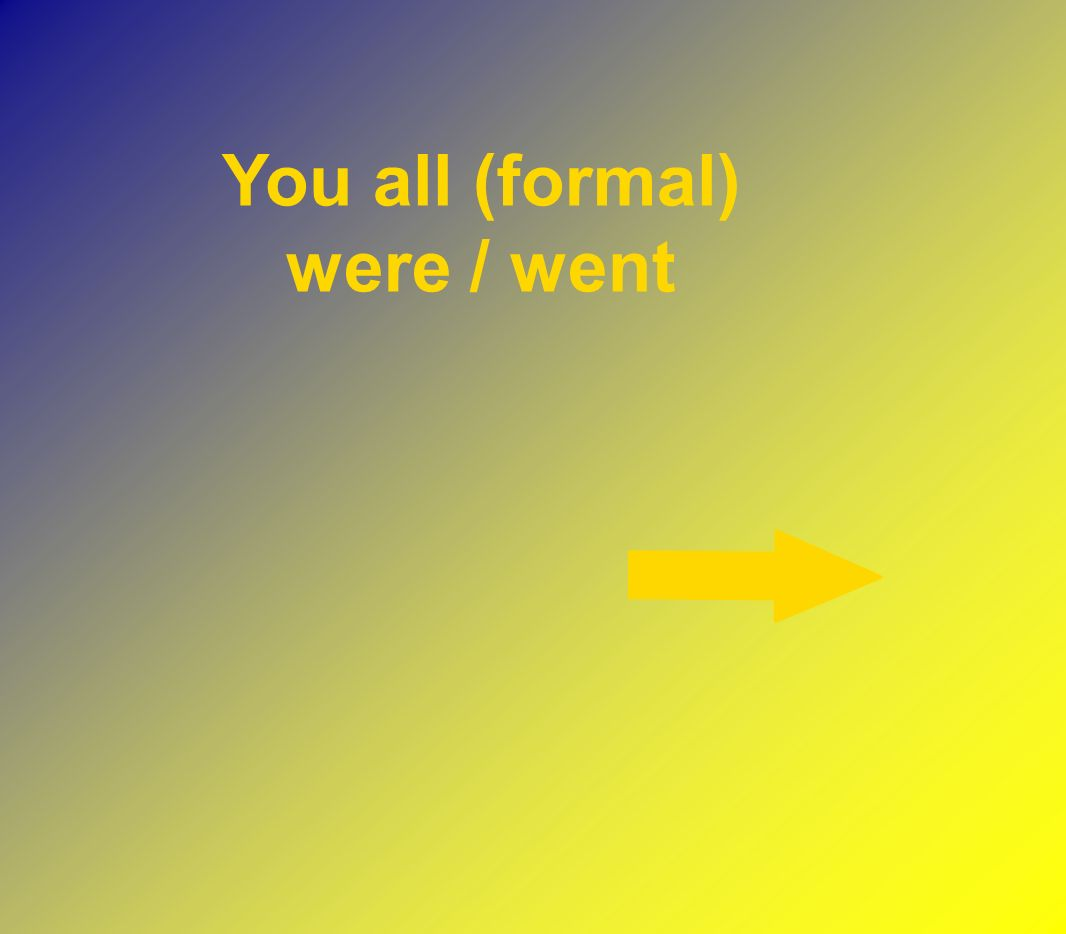 You all (formal) were / went