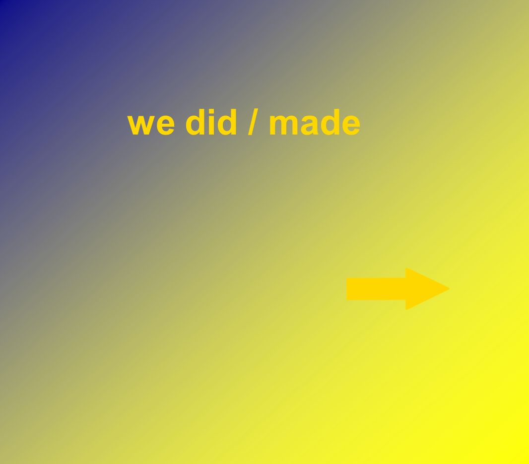 we did / made