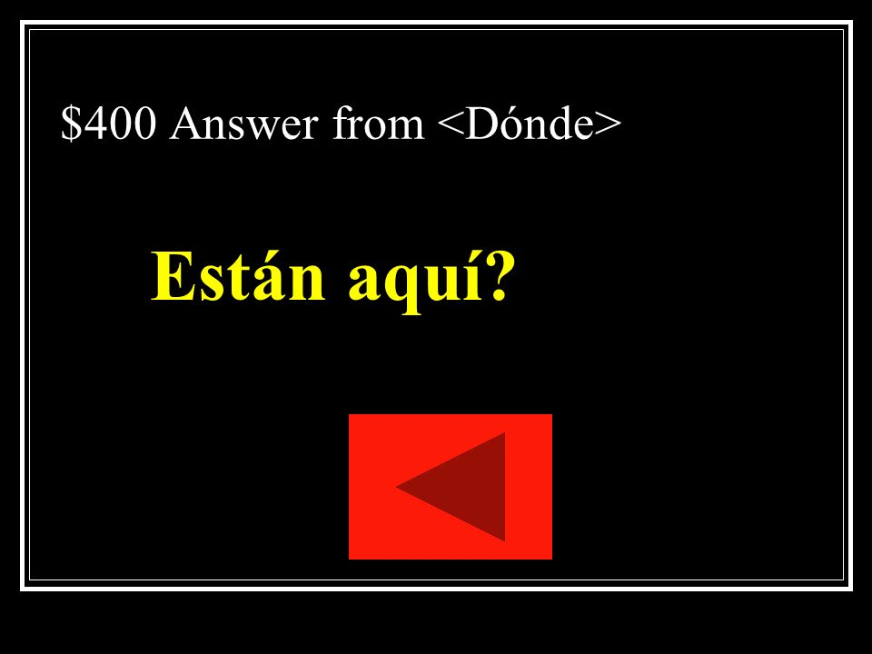$400 Question from ¿Dónde están los estudiantes de la clase de ciencias?