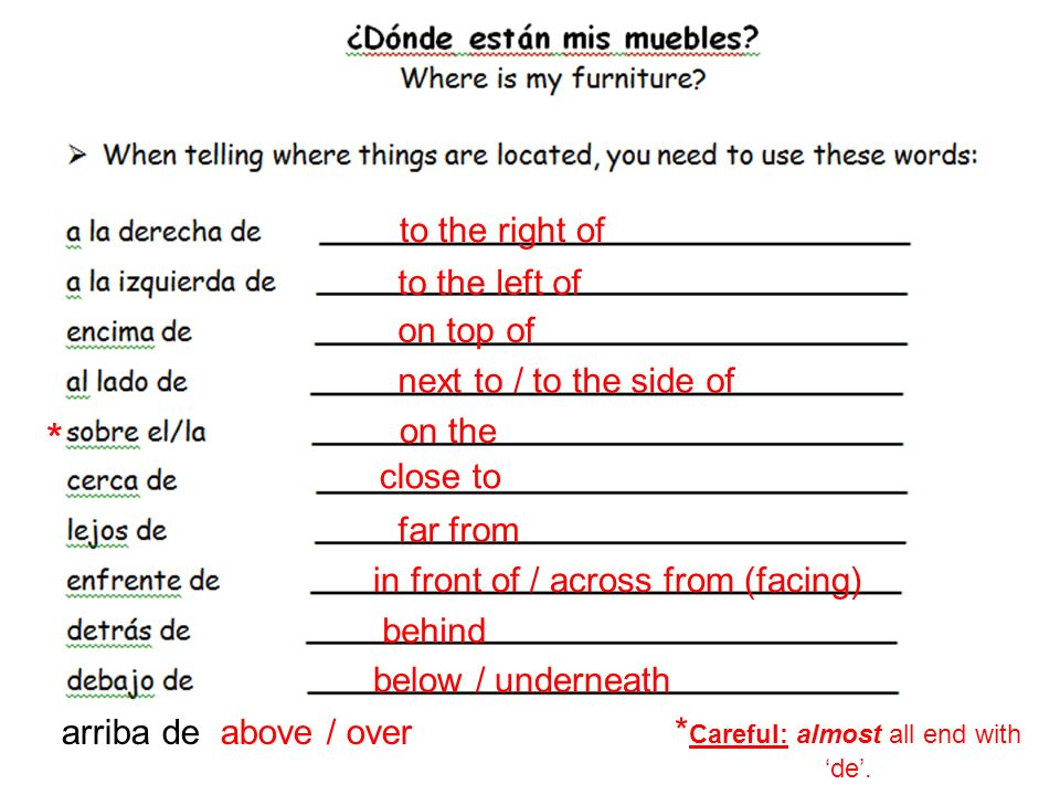 to be (location) estoy estás está estamos están REMEMBER: To tell where things are, you use the verb estar.