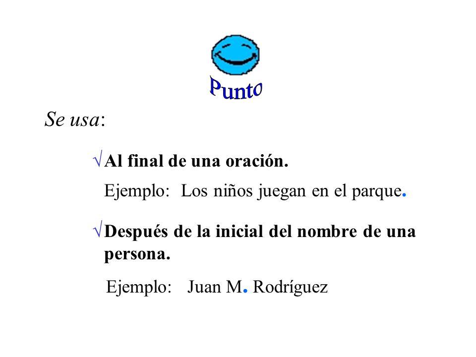 P untuación E n la escritura se usan los signos de puntuación para indicar pausas o cambios de entonación en el lenguaje hablado.