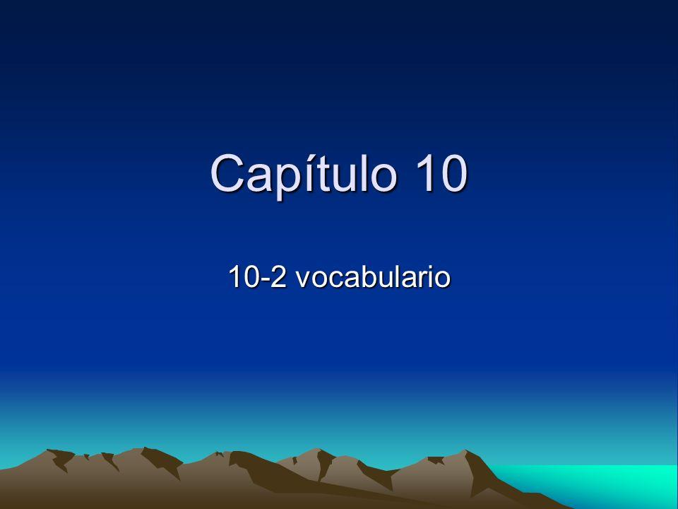 Capítulo 10 10-2 vocabulario