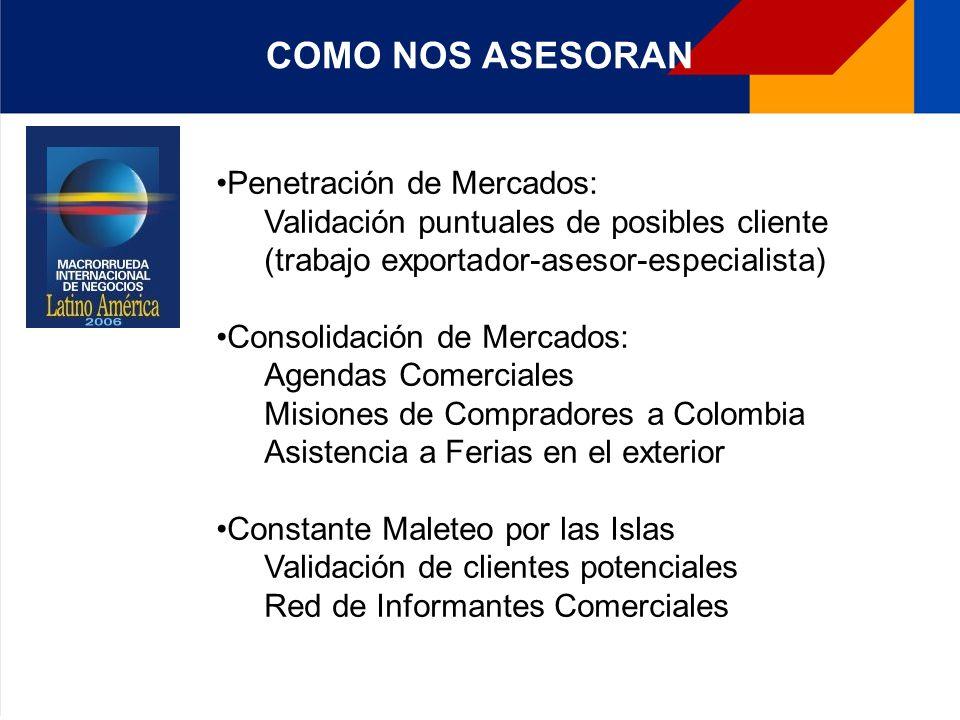 Es el Centro de Información y Asesoría en Comercio Exterior, creado mediante un convenio de cooperación interinstitucional entre Proexport- Colombia, el Ministerio de Comercio, Industria y Turismo y Bancoldex.