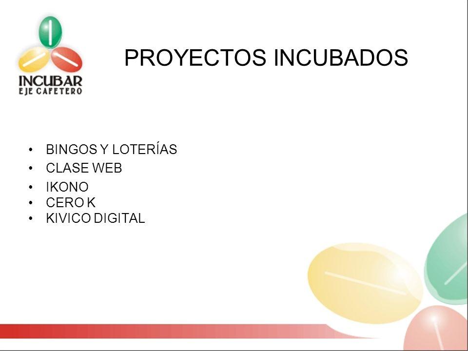 PROYECTOS INCUBADOS BINGOS Y LOTERÍAS CLASE WEB IKONO CERO K KIVICO DIGITAL