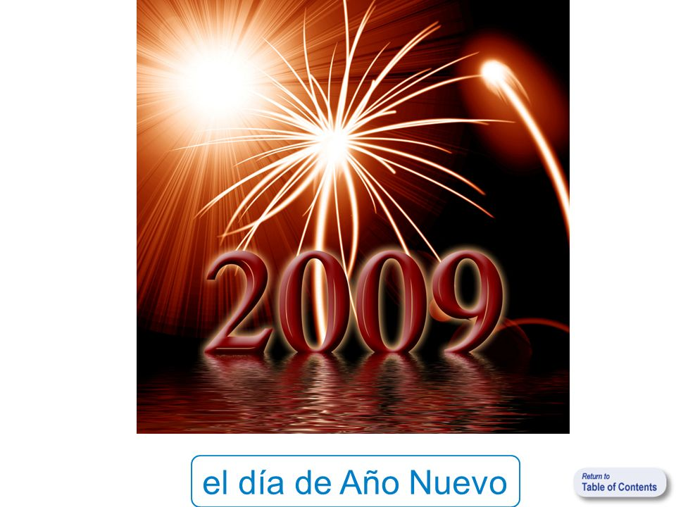 el día de Año Nuevo