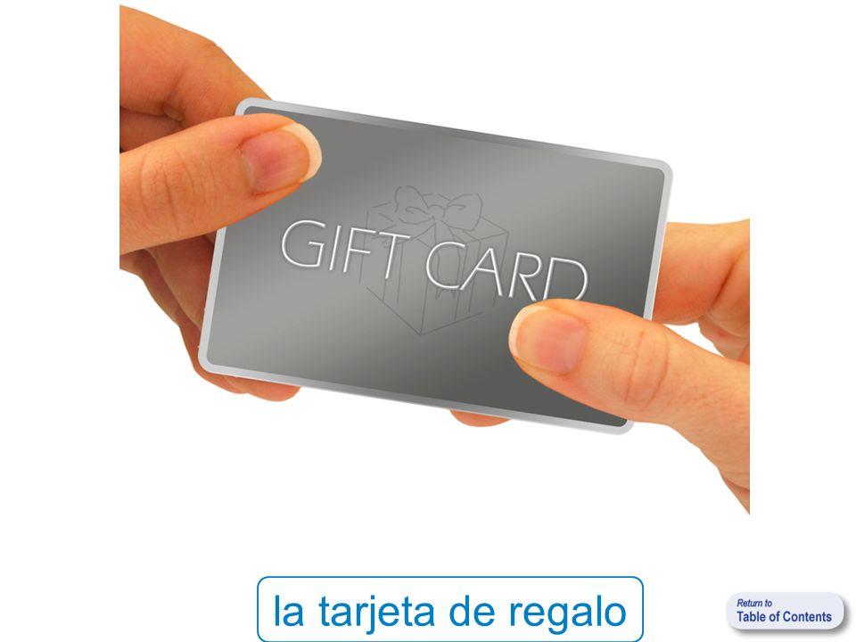 la tarjeta de regalo