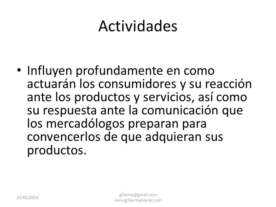Actitudes Rigen la orientación básica hacia los objetos, las personas, los hechos y nuestras actividades. (respuestas de corto, mediano y largo plazo)