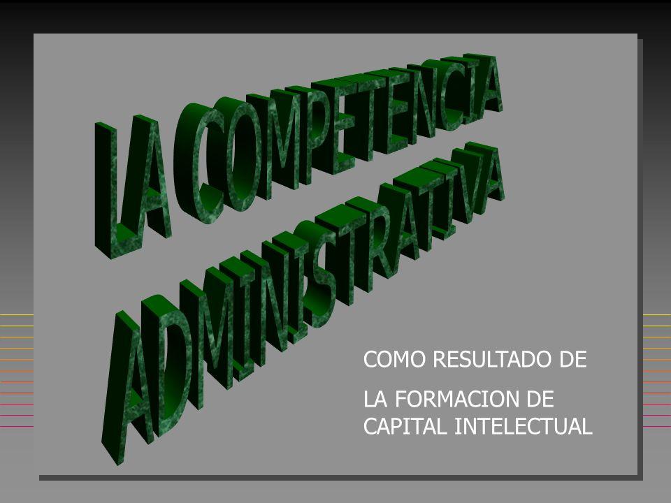 EL CAPITAL INTELECTUAL nSnSnSnSE REFIERE A LA SUMATORIA DE LAS CAPACIDADES Y SABERES DE CADA UNO DE LOS INTEGRANTES DE LA ORGANIZACIÓN nQnQnQnQUE CANALIZADOS SINERGICAMENTE A TRAVES DE LA GERENCIA DEL CONOCIMIENTO GENERAN ALTOS NIVELES DE RENDIMIENTO Y COMPETITIVIDAD
