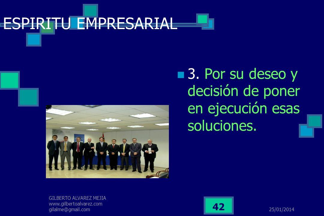 25/01/2014 GILBERTO ALVAREZ MEJIA www.gilbertoalvarez.com gilalme@gmail.com 41 ESPIRITU EMPRESARIAL Ejemplos, Miguel Ángel solucionó el problema de la