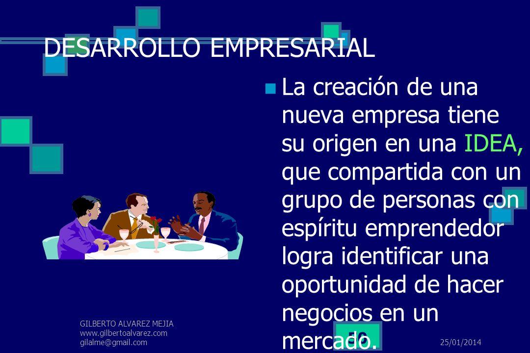 25/01/2014 GILBERTO ALVAREZ MEJIA www.gilbertoalvarez.com gilalme@gmail.com 49 EL EMPRESARIO … En el nuevo mileno, no serán los políticos quienes capt