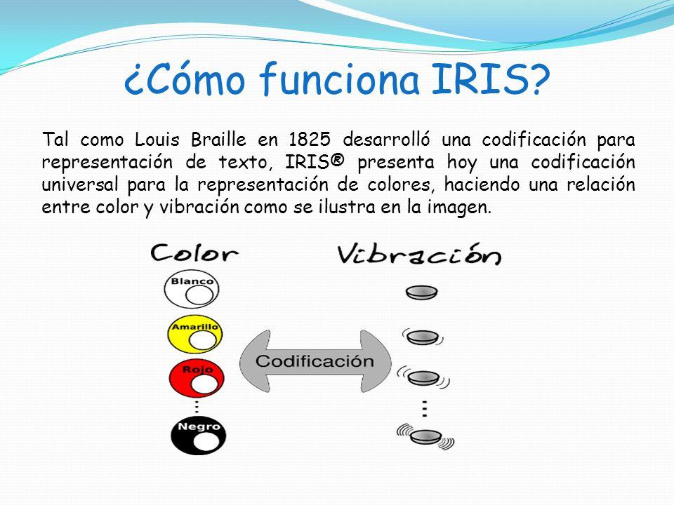 ¿Cómo funciona IRIS? Tal como Louis Braille en 1825 desarrolló una codificación para representación de texto, IRIS® presenta hoy una codificación univ