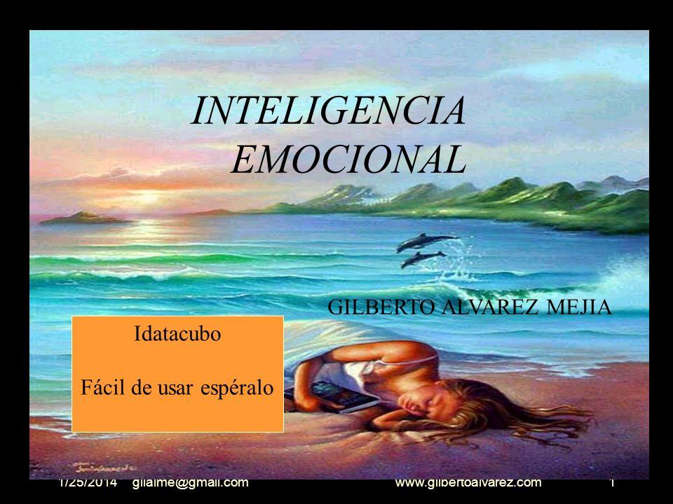 1/25/2014gilalme@gmail.com www.gilbertoalvarez.com11 EMOCIONES Podemos definir la emoción como un estado complejo del organismo, generalmente caracterizado por un elevado estado de alerta y sentimiento personal .