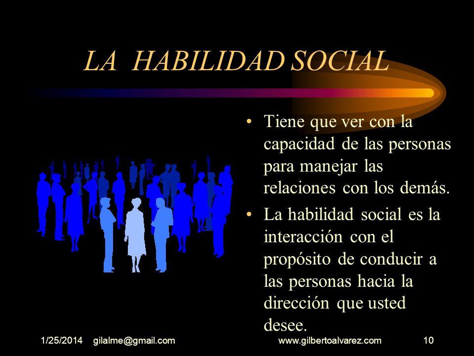 1/25/2014gilalme@gmail.com www.gilbertoalvarez.com9 LA EMPATIA Significa adoptar las emociones junto con otros factores, en el proceso de tomar decisi