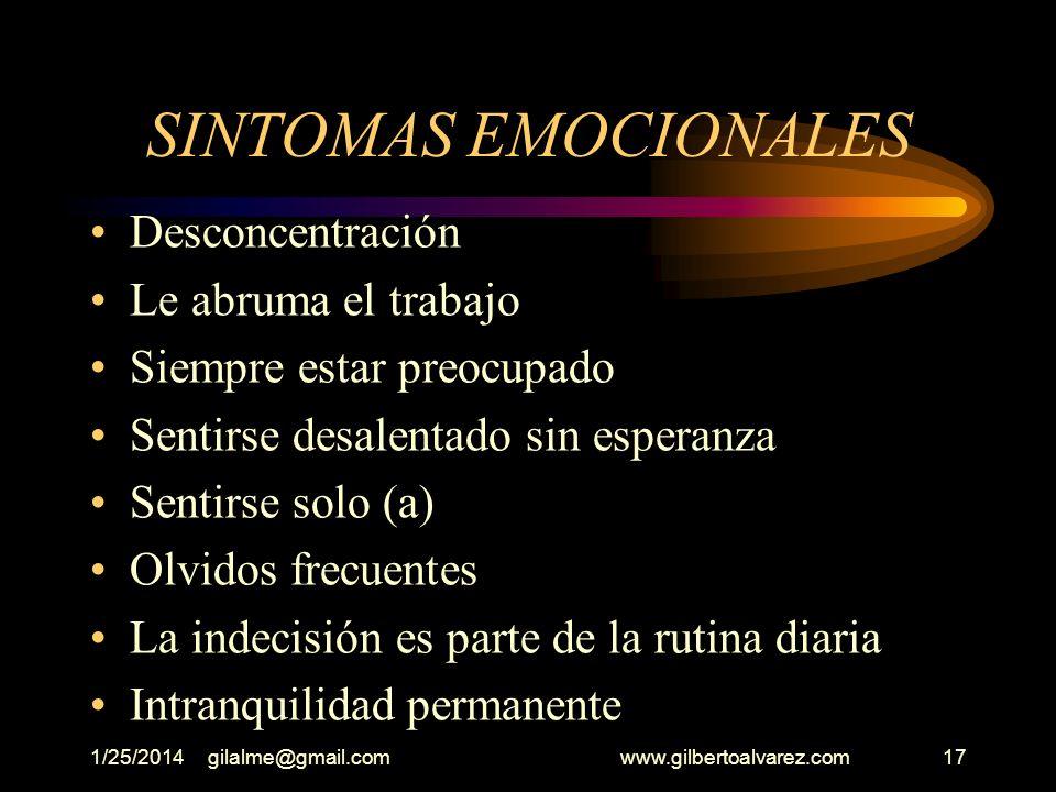 1/25/2014gilalme@gmail.com www.gilbertoalvarez.com16 PARADIGMA EMOCIONAL Hemos oído muchas veces