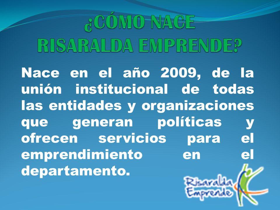 Nace en el año 2009, de la unión institucional de todas las entidades y organizaciones que generan políticas y ofrecen servicios para el emprendimient