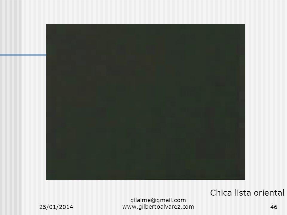 25/01/2014 gilalme@gmail.com www.gilbertoalvarez.com46 Chica lista oriental