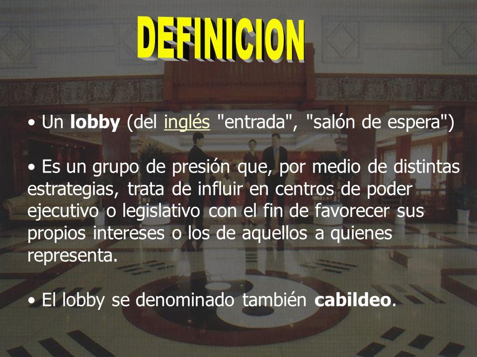 Un lobby (del inglés