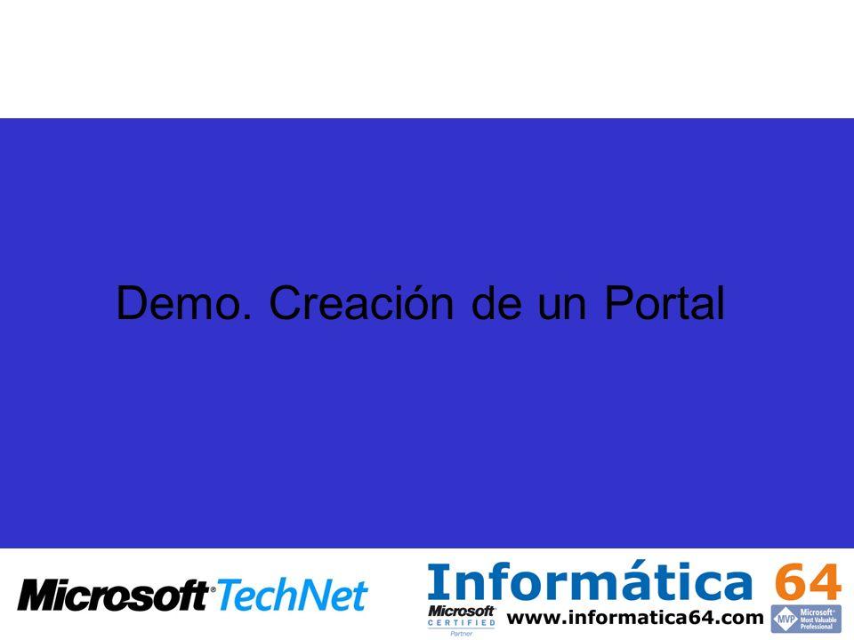 Demo. Creación de un Portal