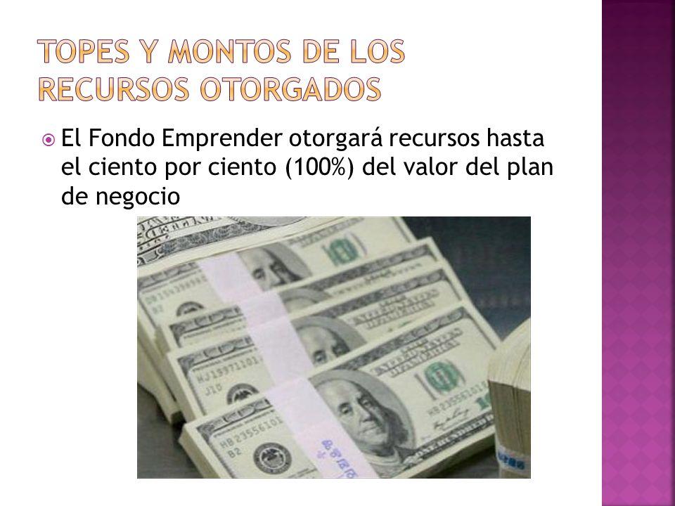 El Fondo Emprender otorgará recursos hasta el ciento por ciento (100%) del valor del plan de negocio