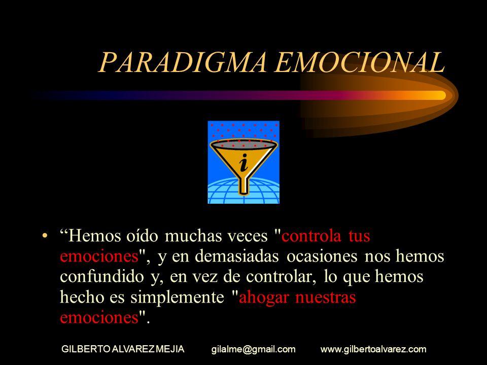 GILBERTO ALVAREZ MEJIA gilalme@gmail.com www.gilbertoalvarez.com GESTION DE LA INTELIGENCIA EMOCIONAL Significa enfatizar lo emocional o lo racional e