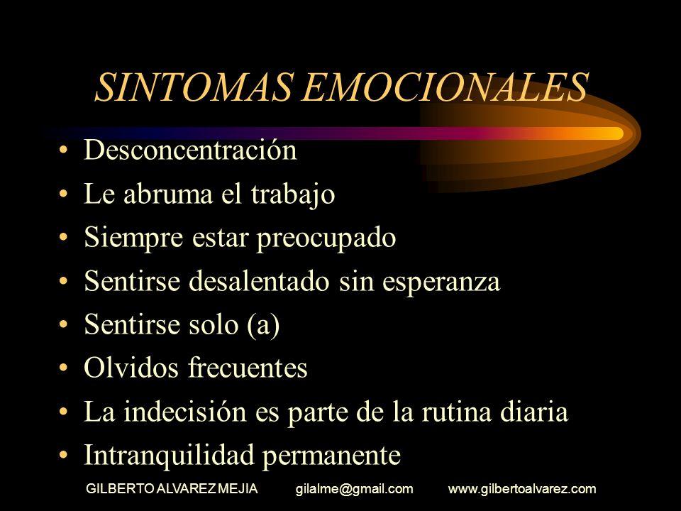 GILBERTO ALVAREZ MEJIA gilalme@gmail.com www.gilbertoalvarez.com PARADIGMA EMOCIONAL Hemos oído muchas veces