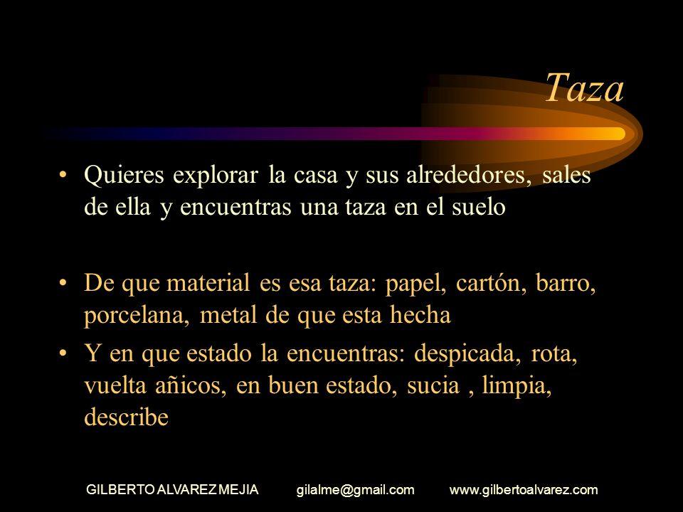 GILBERTO ALVAREZ MEJIA gilalme@gmail.com www.gilbertoalvarez.com Comedor Logras entrar a la casa, la observas detenidamente, te detienes en el comedor