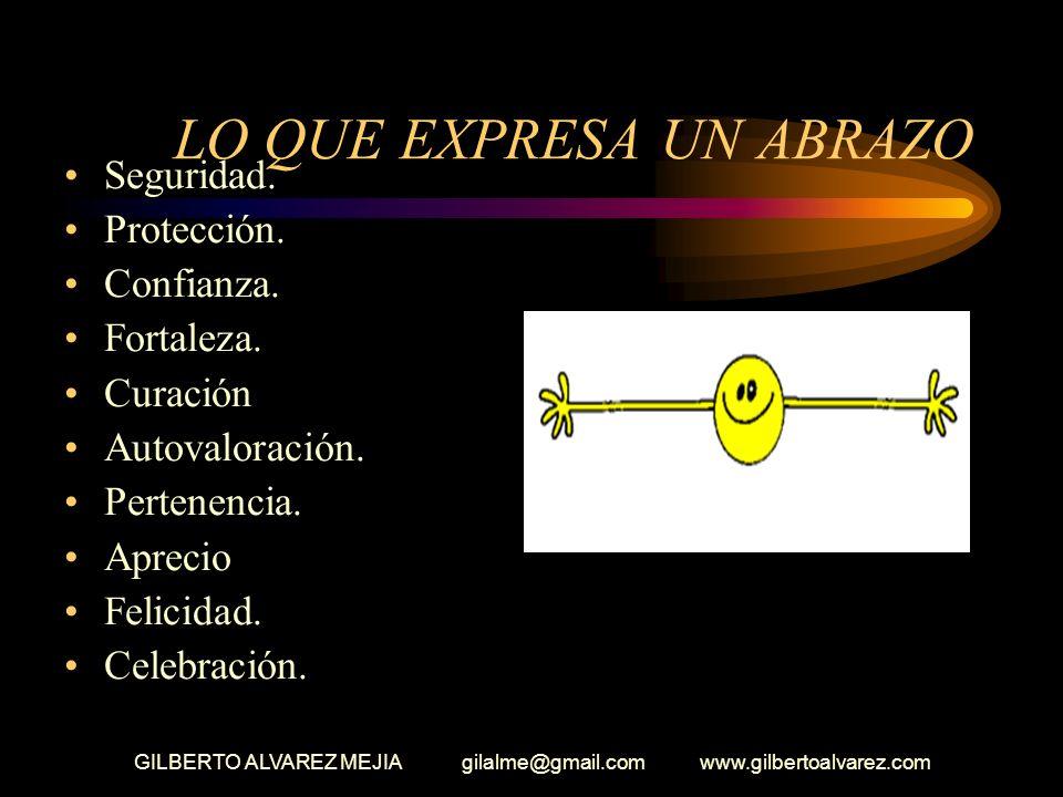 GILBERTO ALVAREZ MEJIA gilalme@gmail.com www.gilbertoalvarez.com FILOSOFIA DEL ABRAZO El idioma de los abrazos nos ayuda a hablar con el corazón y nos