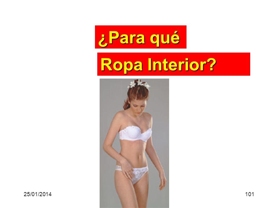 ¿Para qué Ropa Interior? 25/01/2014101
