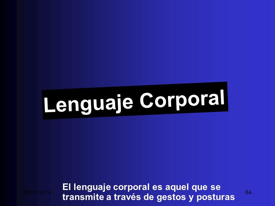 Lenguaje Corporal El lenguaje corporal es aquel que se transmite a través de gestos y posturas 25/01/201464