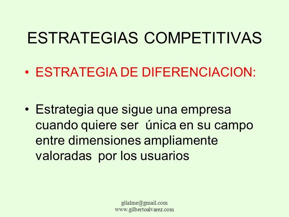 ESTRATEGIAS COMPETITIVAS ESTRATEGIA DE LIDERAZGO DE COSTOS: Estrategia que sigue una organización cuando quiere ser la de mas bajo costo en su segment