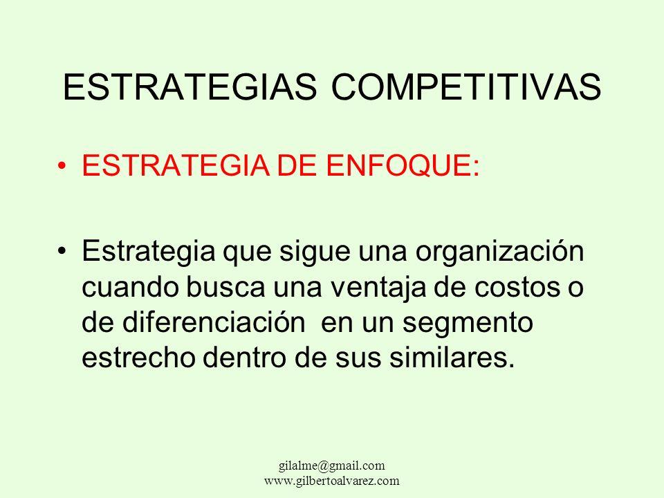 ESTRATEGIAS COMPETITIVAS ESTRATEGIA DE DIFERENCIACION: Estrategia que sigue una empresa cuando quiere ser única en su campo entre dimensiones ampliame