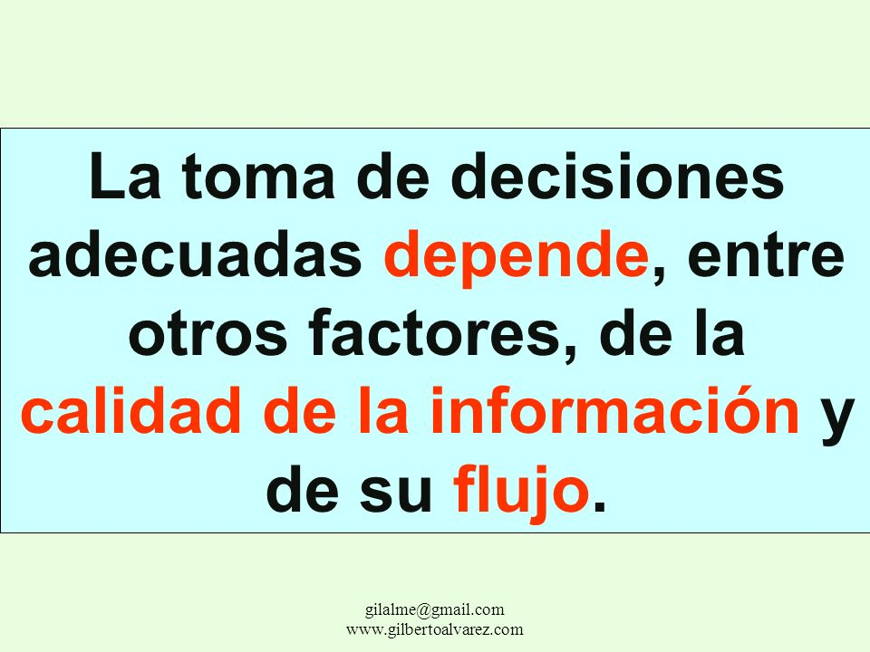 Fijación de objetivos, planeamiento, control, integración, organización. Administrativo gilalme@gmail.com www.gilbertoalvarez.com