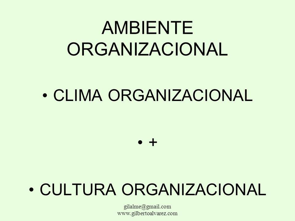 CULTURA ORGANIZACIONAL Normas comportamentales derivadas de la convivencia vienen de la base gilalme@gmail.com www.gilbertoalvarez.com