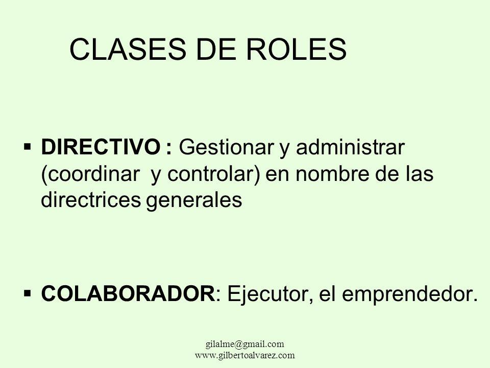 SUBSISTEMA PSICOSOCIAL Status: clasificación o estratificación Rol: Las actividades de un individuo en una posición particular. gilalme@gmail.com www.