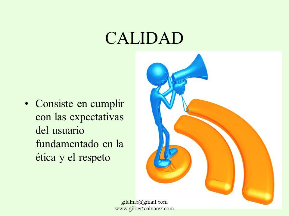 FACTORES DE COMPETITIVIAD CALIDAD COSTOS OPORTUNIDAD SERVICIO gilalme@gmail.com www.gilbertoalvarez.com