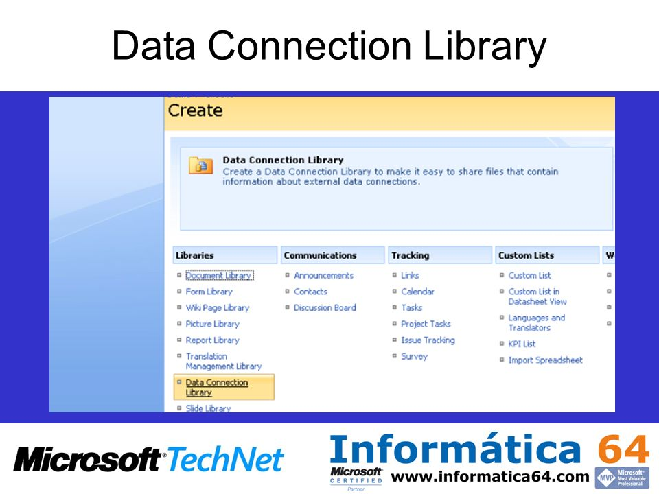 Data Connection Library