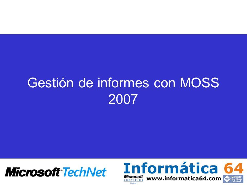 Generación y Publicación de Hojas de Calculo con MOSS 2007