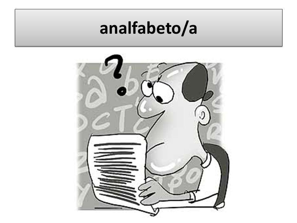 analfabeto/a