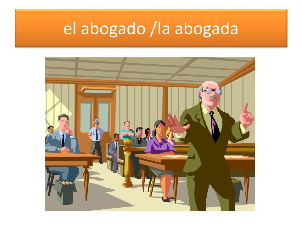 el abogado /la abogada