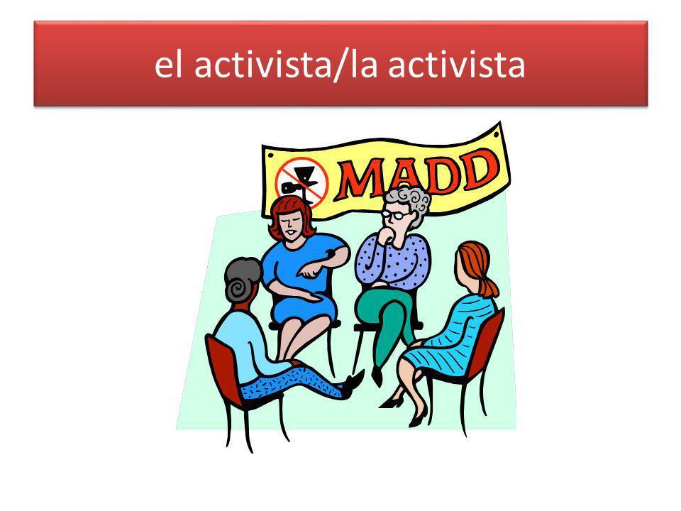 el activista/la activista